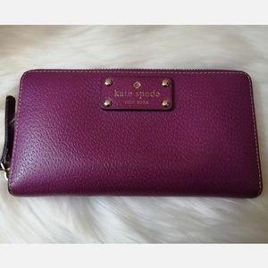 Grape Kate Spade Purple Wellesley Zip Wallet